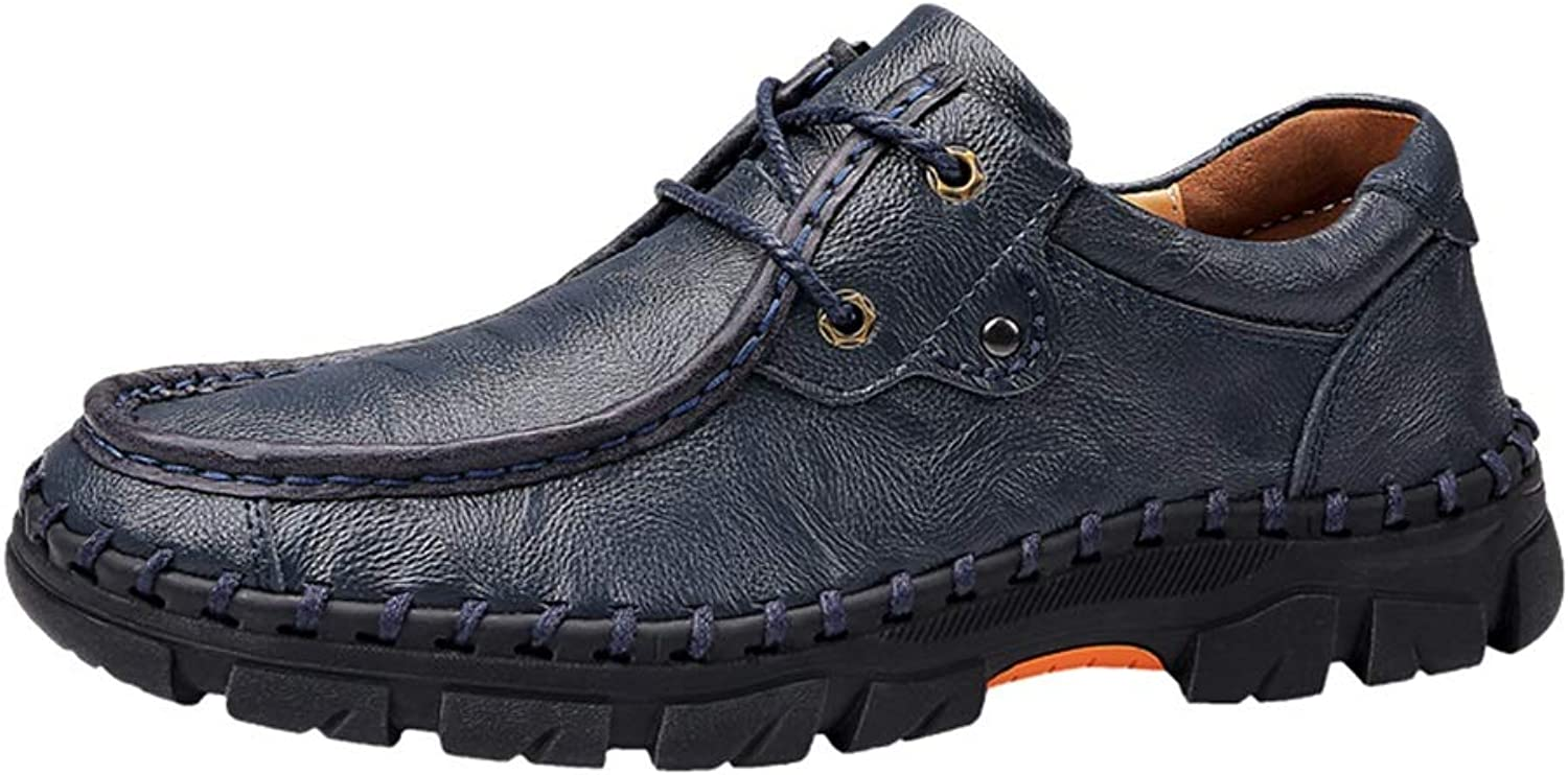 MUMUWU Fashion Business Work shoes for Men PU Leather Breathable Comfortable Loafers Lined Anti-Slip (color   bluee, Size   11.5 D(M) US)