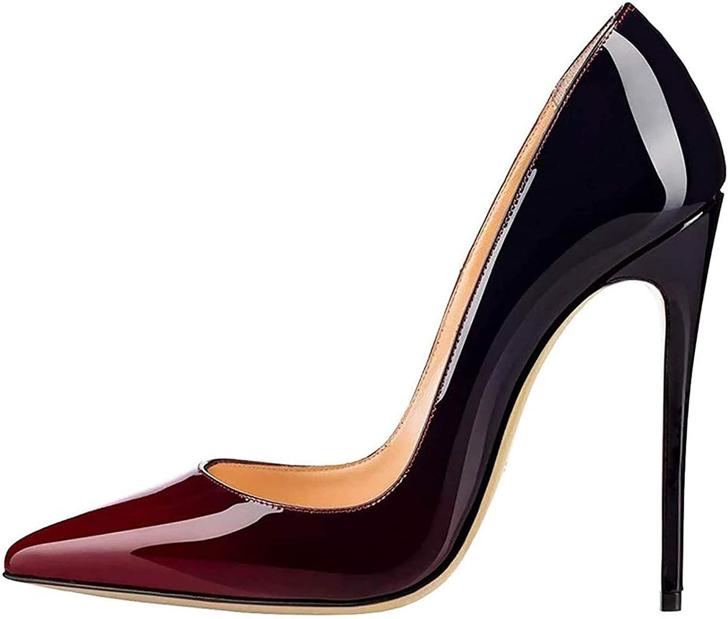 OFFicial shop WDZJM High Heels Ladies Pointed C Patent Color Max 75% OFF Leather Gradient