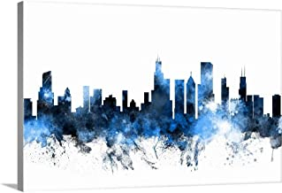 Chicago Illinois Skyline Canvas Wall Art Print, 48