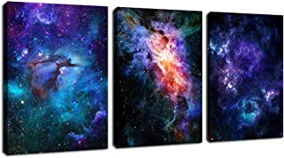 arteWOODS Canvas Wall Art Outer Space Fantastic Artwork Nebula Galaxy Canvas Art Contemporary Artwork Picture Prints for Home Wall Decor 12