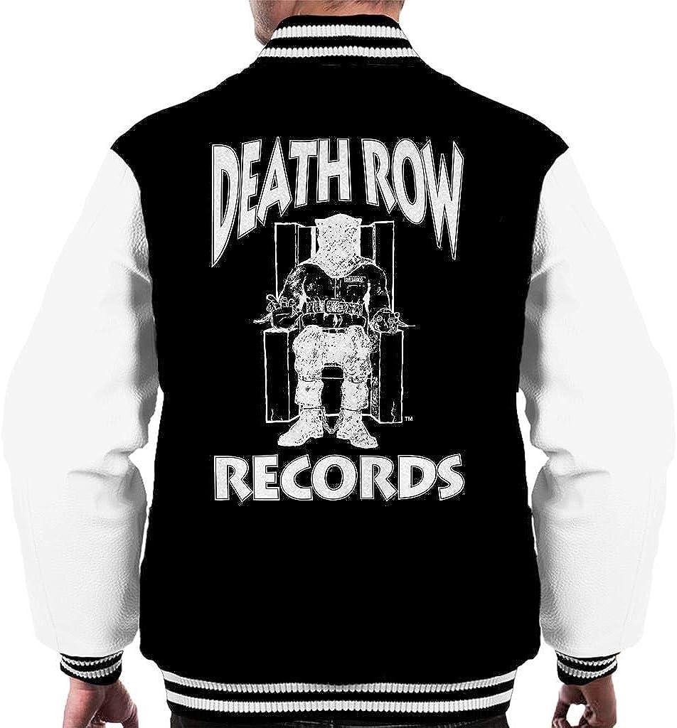 Death Row Records Chair Logo White Men's Varsity Jacket