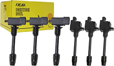 DEAL Pack of 6 New Front+Rear Ignition Coils For 2000-2001 Infiniti I30 Nissan Maxima 3.0 L V6 Replacement#UF363 UF348 C1267