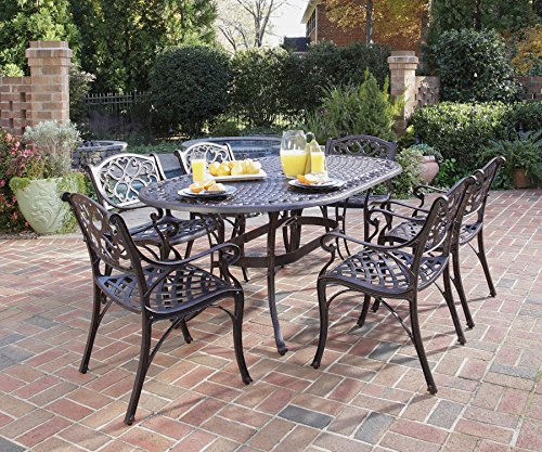 Hot Sale Home Styles 5555-338 Biscayne 7-Piece Outdoor Dining Set, Rust Bronze Finish