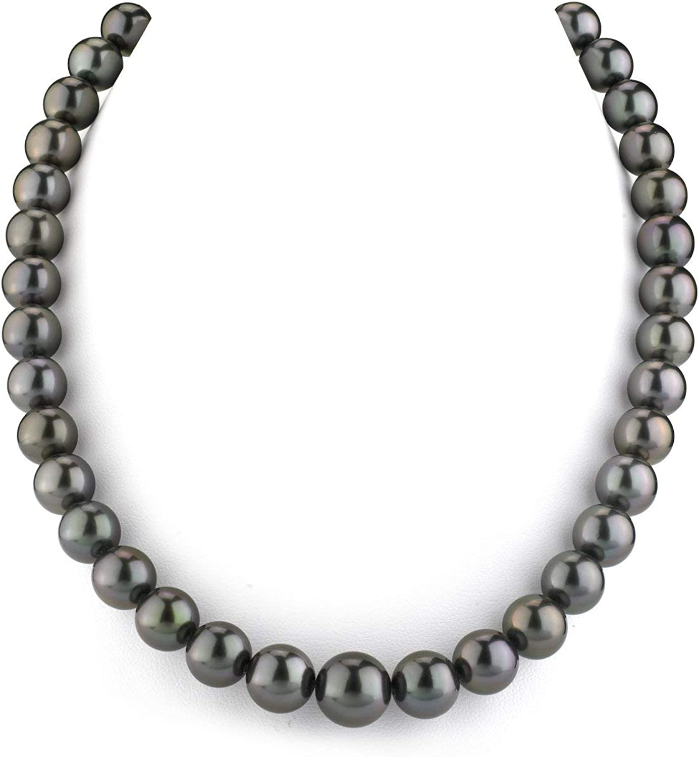 trust THE PEARL SOURCE 14K Gold Round Sea Black Tahitian It is very popular South Genuine