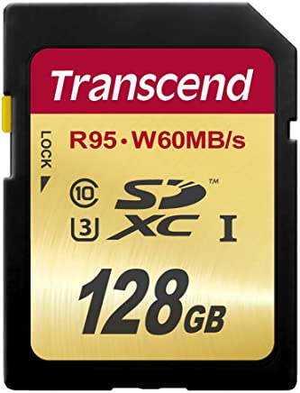 Transcend 128 GB High Speed 10 UHS-3 Flash Memory Card...