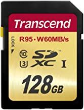 Transcend TS128GSDU3 - Tarjeta de Memoria SecureDigital de 128 GB