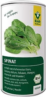 Raab Vitalfood Bio-Polvo de espinacas orgánico, 100% espinacas de cultivo biológico en Alemania, vegano, sin gluten, conti...