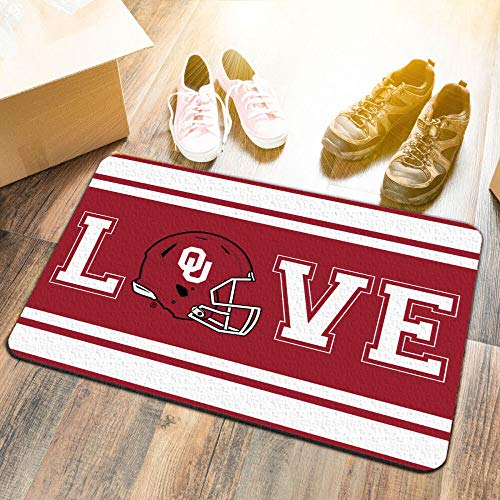 College Flags & Banners Co. University of Oklahoma Sooners Love Utility Man Cave Door Mat