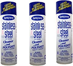 Sprayway Stainless Steel Cleaner 3Pk 15oz Cans