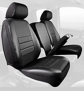 Fia SL68-30 BLK/BLK Custom Fit Front Seat Cover Split Seat 40/20/40 - Leatherette (Solid Black)