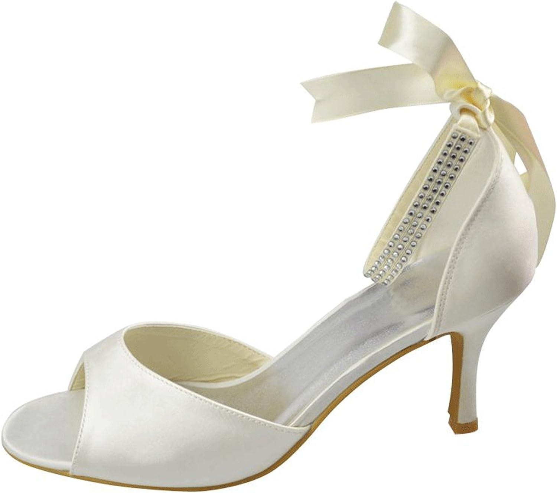 Kevin Fashion MZ1220 Women's Ribbon Satin Bridal Wedding Formal Party Evening Prom Sandals