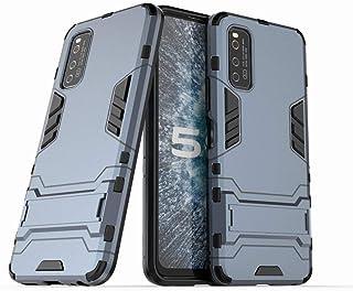 Ougger Vivo iQOO Neo3 5G カバー ケース エクストリーム保護 衝撃吸収性 [スタンド] 鎧 硬い PC + ソフト TPU 緩衝ゴム 2in1 カバー Vivo iQOO Neo3 5G (Gray Blue)
