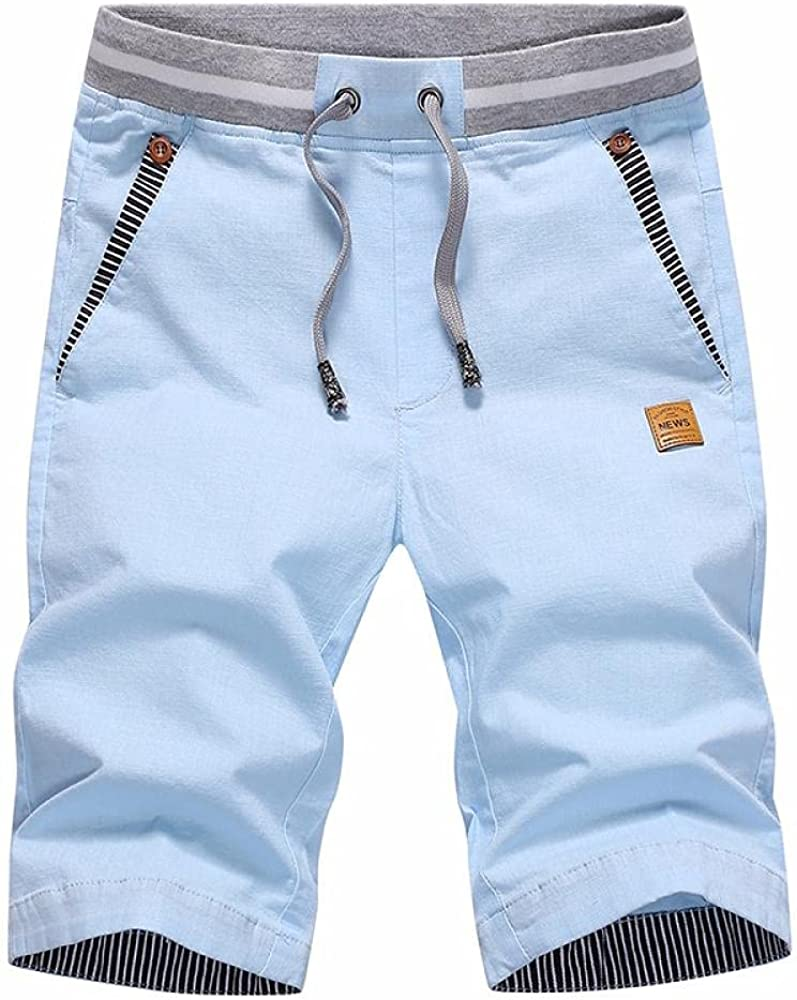 KKLLHSH Summer Fashion Casual Loose Short Special price Swe Cropped Max 41% OFF Pants Mens