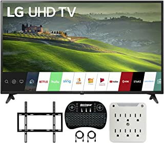 LG 49UM6900 49-inch HDR 4K UHD Smart IPS LED TV (2019) Bundle with Deco Mount Flat Wall Mount Kit, Deco Gear Wireless Back...