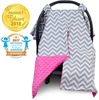 pink chevron carseat canopy