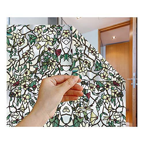 ZHZX Privacidad Helada de vidrieras, película Protectora de Ventanas Anti UV para Oficina de Dormitorio de baño,45cm*5m