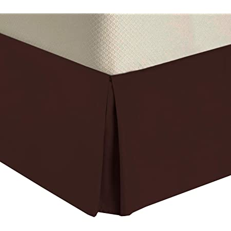 Queen Size, Aqua Blue VGI Linen Hotel Series Luxurious Looking 1-PC Split Corner Tailored Bed Skirt Solid 550 Thread Count Ultra Soft Genuine Egyptian Cotton with 8 Inch Drop Length