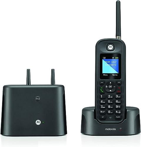 new arrival Motorola O211 DECT wholesale 6.0 online Long Range Cordless Phone, Water & Dust Resistant, IP67 Certified, Black, 1 Handset outlet online sale