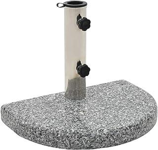 vidaXL Parasol Base Granite Stainless Steel 38/48 mm Pole 2 Locking Bolts Outdoor Sand Garden Umbrella Weight Holder Stand...