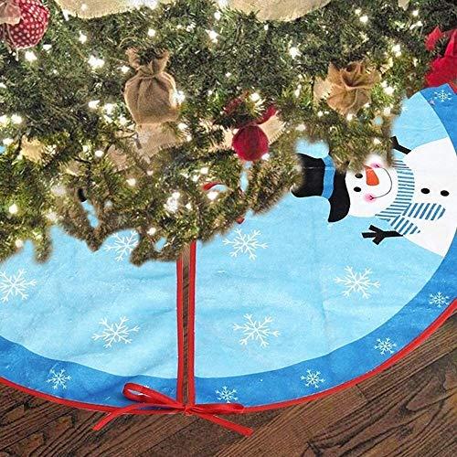 dwkkong Falda del árbol de Navidad con la Ronda de Acabado 80 cm Azul Decoraciones for árboles de Año Nuevo Navidad de Navidad de Vacaciones