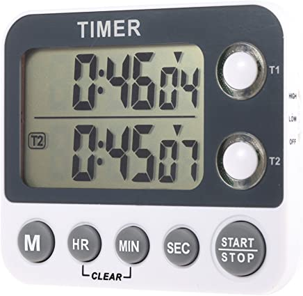 Anself Digital Kitchen Timer Large LED Electronic Display with Alarm Clock Auto Memory Countdown