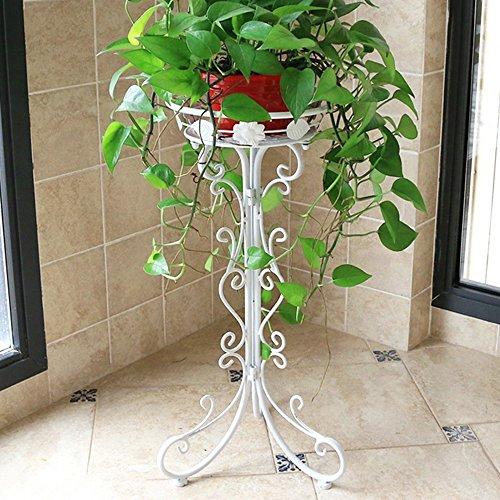 Porte-fleurs multifonctions Support de fleur de fer Unique fleurs de lauro vert Pots de sol Intérieur et extérieur salon européen balcon pliant fleur étagère (3 couleurs en option) (taille en option)