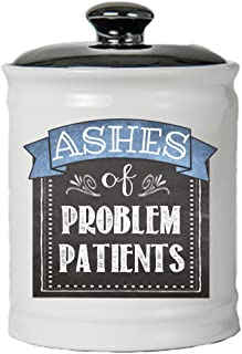 Cottage Creek Medical Gifts Round Ashes of Problem Patients Coin Bank Jar/Novelty Doctor Gifts Nurse Gifts [White]