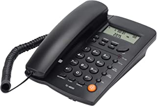 Uvital Desktop Corded Telephone, DTMF/FSK Mode, LCD Display, Calls Memory, Basic Calculator, Special Ring for VIP Numbers,...