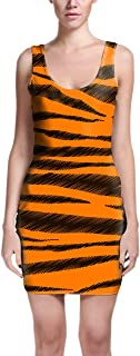 Rainbow Rules Tigger Stripes Winnie The Pooh Inspired Bodycon Dress