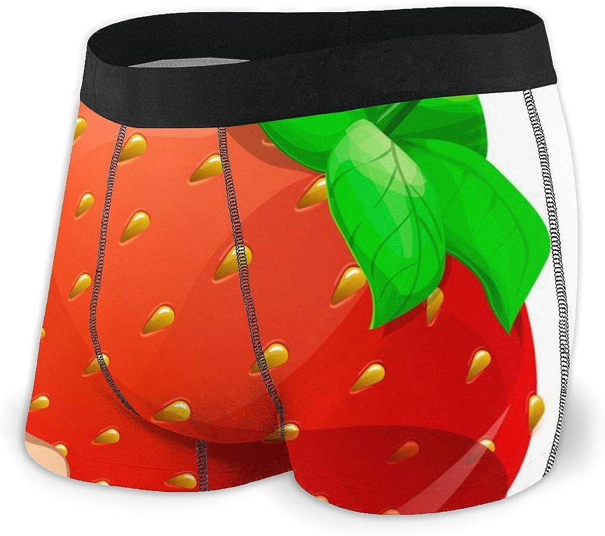 Randolph Wordsworth Mens Boxer Briefs Strawberry Cool Cute Breathable Underwear