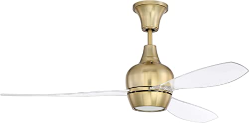 """high quality Craftmade BRD52SB3 outlet sale Bordeaux 52"""" Ceiling Fan with LED Light and Remote Control, 3 Blades, online sale Satin Brass online"""