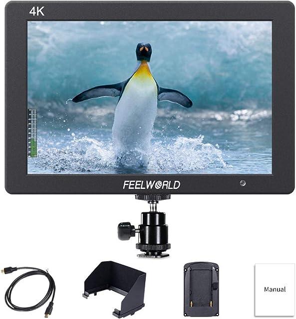 Feelworld T7 7 Pulgadas On Cámara Field Monitor de Campo Camera DSLR Small HD Focus Video Assist 1920x1200 IPS con 4K HDMI Input Output Carcasa de Aluminio