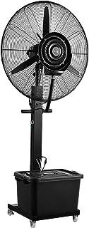 Ventiladores industriales Refrigeración grande, ventilador comercial, ventilador de pedestal de alta velocidad para trabajo pesado, oscilante, negro