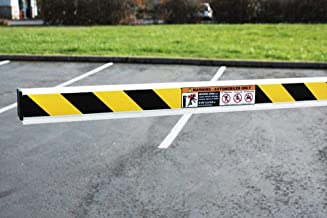 ParkingZone Case of 6 10 ft. PVC Gate Arms with 1 Reusable Metal Bracket