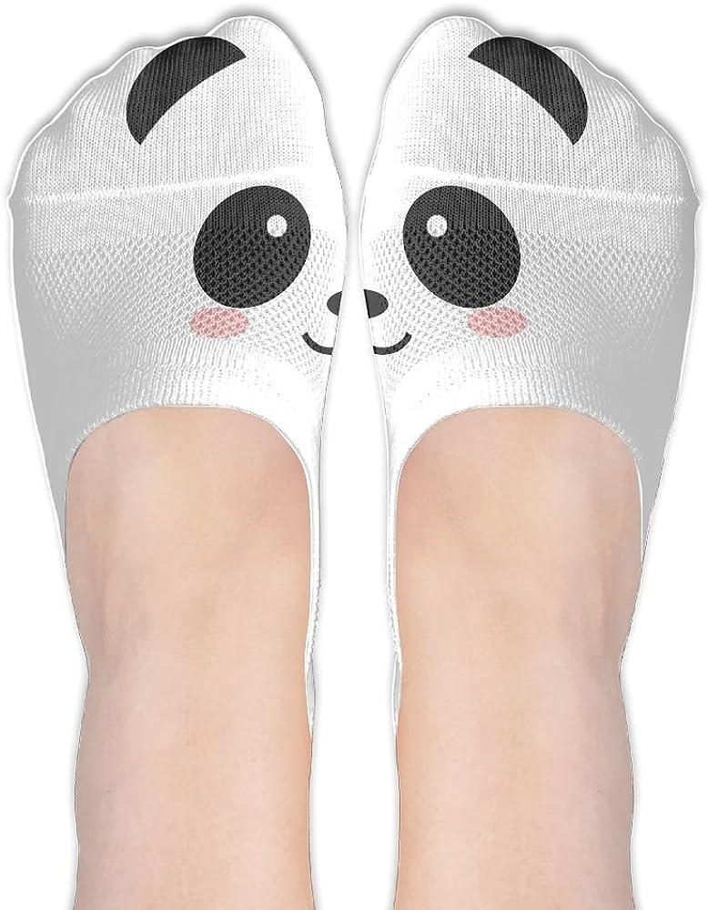 Cute Panda No Show Socks Liner Socks Low Cut Ped Socks Flat Boat Liners For Women