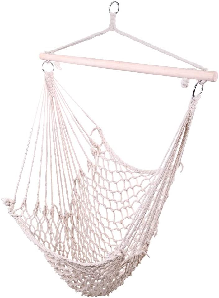 New product!! USspous Popular shop is the lowest price challenge Single Hanging Chair Cotton 250 Max Sw Hammock Lbs