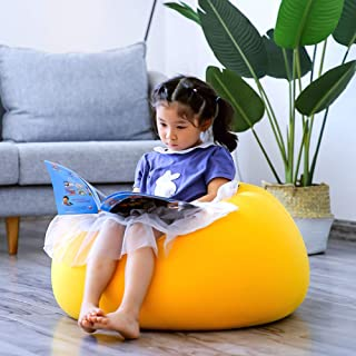 sofa Childrens Kids Round Shape Gaming Bean Bag  Filled Personalised Indoor Outdoor Bean Bag Chair Living Room Children s Lazy  Yellow