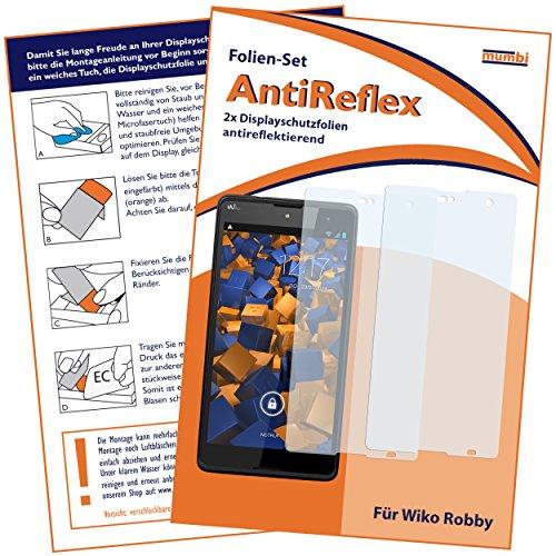 mumbi Schutzfolie kompatibel mit Wiko Robby Folie matt, Bildschirmschutzfolie (2X)