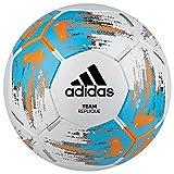 adidas Jungen Team Replique Turnierbälle für Fußball, White/Bright Cyan/Bright orange, 4