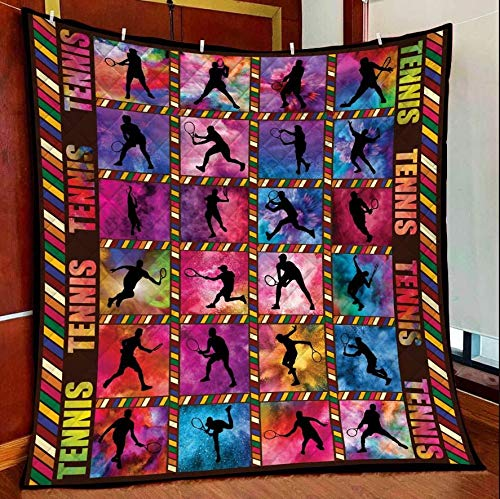 Amazing Tennis Quilt Blanket Outdoor Picnic Beach Blanket Twin Throw Queen King Size Bed Quilts Best Decorative for Bed, Couch, Sofa, Chair, Swing, Daybed, Home Decor