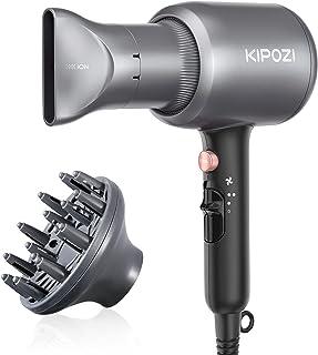 KIPOZI Phone per Capelli, Asciugacapelli Ioni, Phon Professionale da 2200W Potente per Un'Asciugatura Rapida con Concentra...