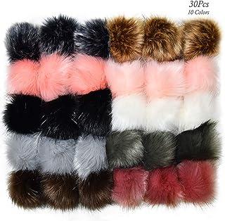 asdfwe Esponjosas Pompoms Bolas De 4 Cm 3 Cm 2,5 Cm 1,5 Cm 2 Cm Pack De Approx.300 del Color Multicolor para Los Sombreros Zapatos Hadas Bufandas Bolsa