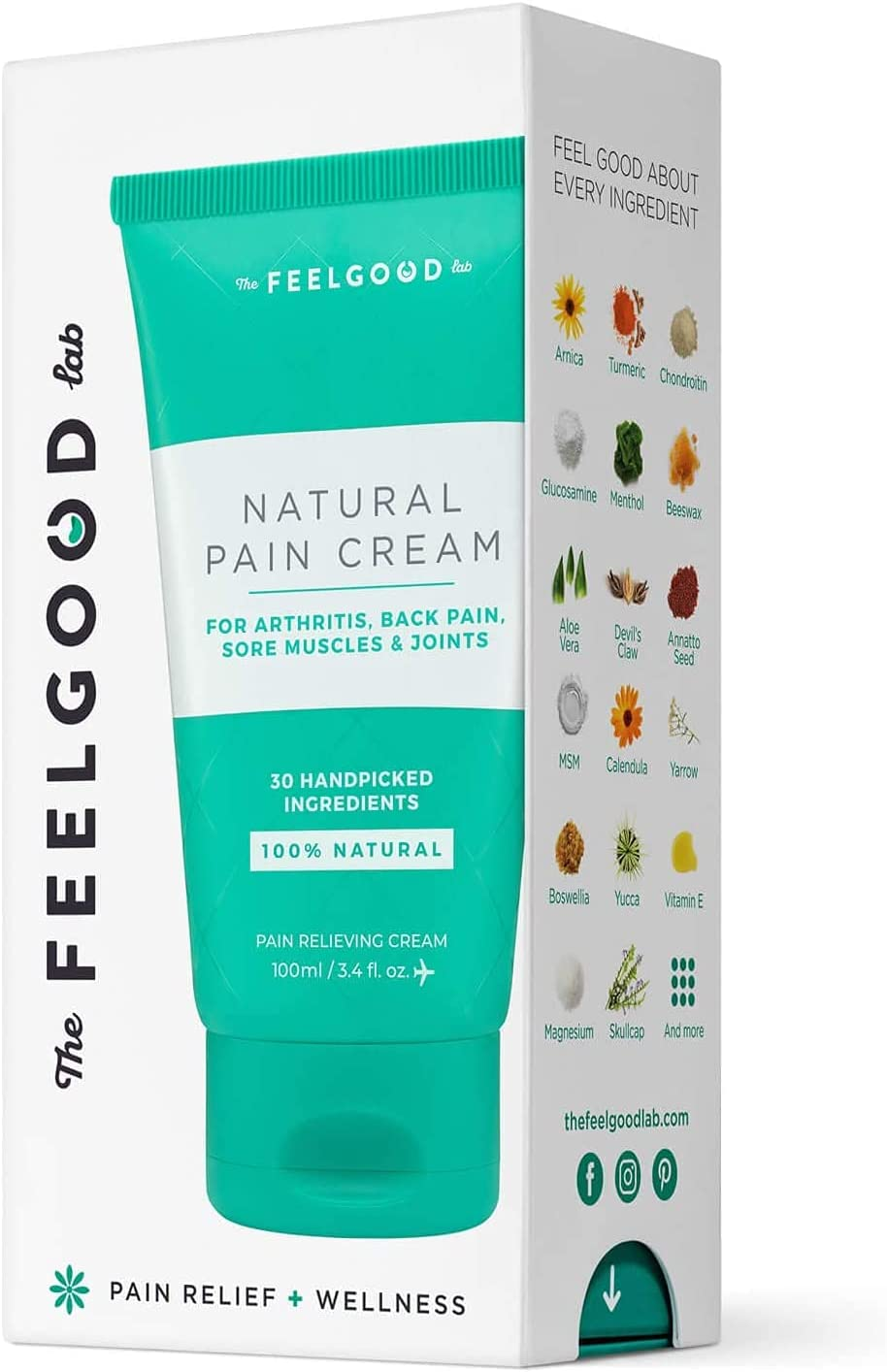 Natural Pain Cream - Powerful for Relief Pa lowest price Max 79% OFF Arthritis