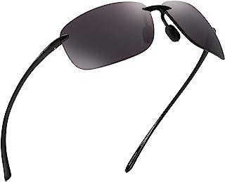 JIM HALO Sport Sunglasses for Men Women TR90 Rimless Frame for Running Fishing Cycling Driving