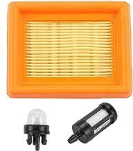 Trustsheer 4134 141 0300 Air Filter Cleaner & Fuel Filter Primer Bulb for STIHL FS120 FS200 FS250 FS300 FS350 FS400 FS450 FS480 FR350 FR450 FR480 BT120C BT121 SP451 SP481 String Trimmer Brush Cutter