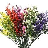 Clyhon 6 Piezas Flores Artificiales Falsa Planta Flor Falsas Arbustos Verdes Plantas Artificiales Realista plástico...