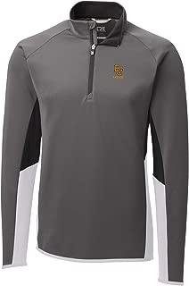 Cutter & Buck NCAA Baylor Bears Mens Long Sleeve Traverse Colorblock Half Zip,  Elemental Grey,  Medium