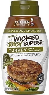 Kitchen Accomplice Wicked Juicy Turkey Burger, Applewood Smoke, 12 oz