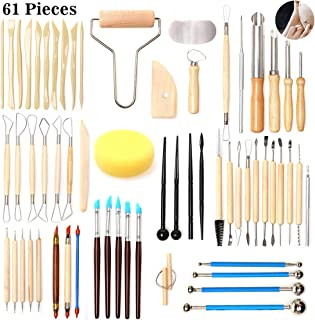 LEMESO 24pcs Modeling Clay Tools Set Included A Storage Bag Ball Stylus Dotting Tools Sculpture Pottery Sculpting Tools Kit