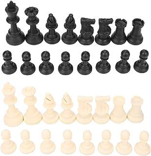 Sponsored Ad - Zerodis Chess Pieces with Bottom Lint,32PCS Silent Black&White Standard International Staunton Chess Game P...